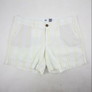 Old Navy Women's Short Shorts Size 6 White Yellow